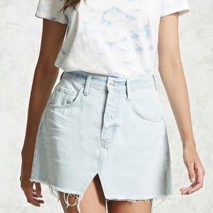 Forever 21 Light Blue Denim Mini Skirt, M (NWOT)